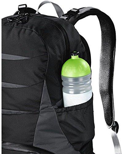 Hama Kamerarucksack für DSLR Kamera und Ausrüstung (Outdoor Fotorucksack, 16 L, Kamerafach herausnehmbar, Tablet-/Notebookfach, Regenschutz, Stativhalterung, handgepäcktauglich) schwarz