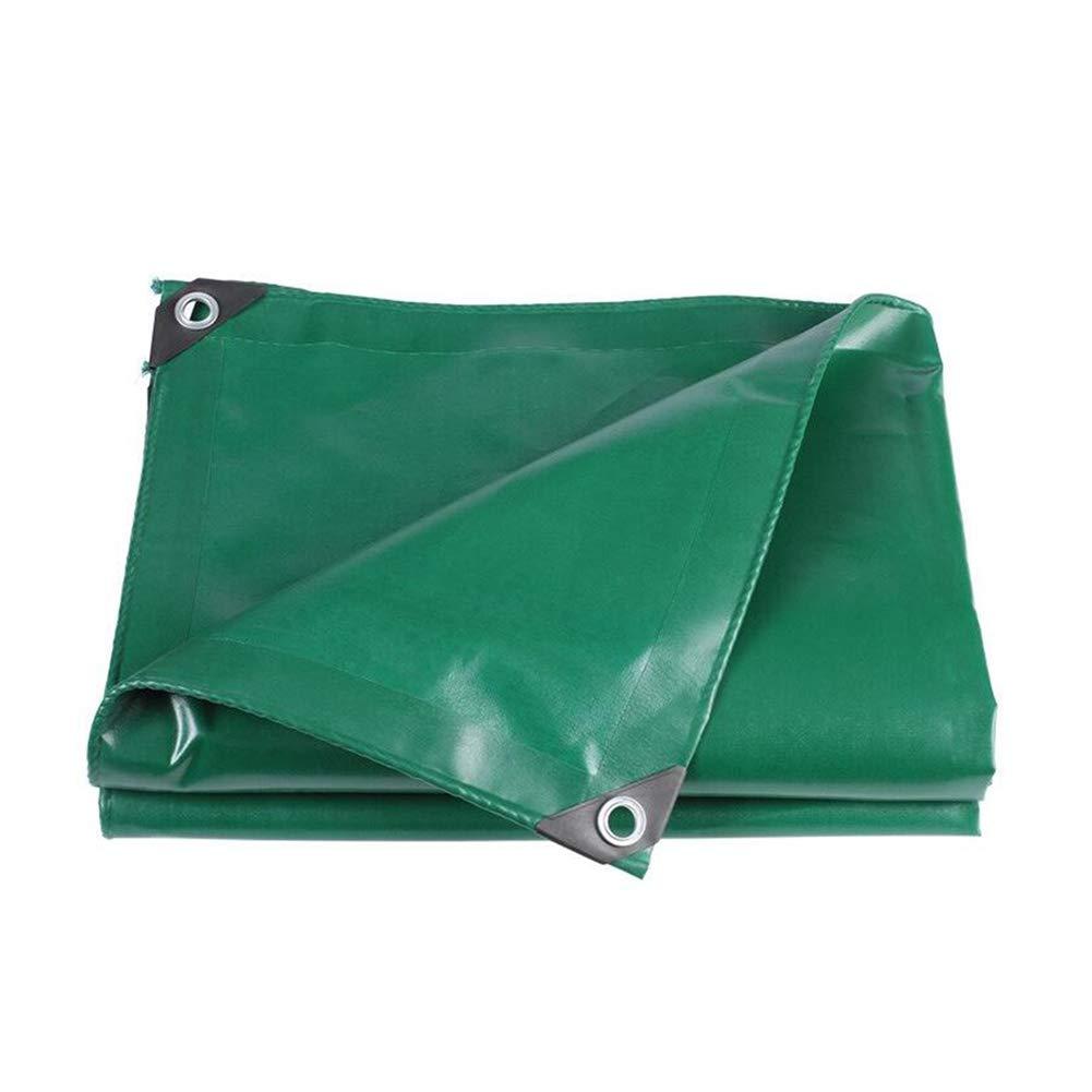 DALL ターポリン タープ アウトドア 厚い 防水 雨の布 一時的 カーポート 防風 日焼け止め (色 : 緑, サイズ さいず : 3×3m) 3×3m 緑 B07KXFB5NC