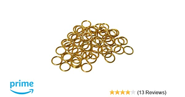 """for Roman Shades build// repair 50 QTY SEW-ON 3//8/"""" NICKEL CORD GUIDE RINGS"""