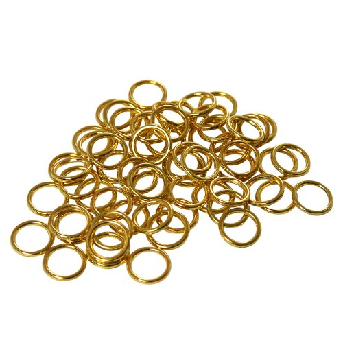 Brass Ring Hardware - Home Sewing Depot Sew On Rings, Brass, 3/8 inch Diameter 50 PK