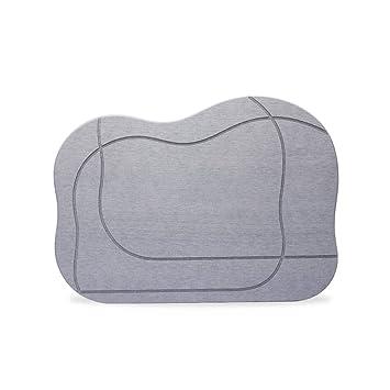 Diatom Mud Mats Baño Doméstico Absorción De Agua Y Secado Rápido Antideslizante 52.5 * 38.5CM (Color : Gray): Amazon.es: Hogar