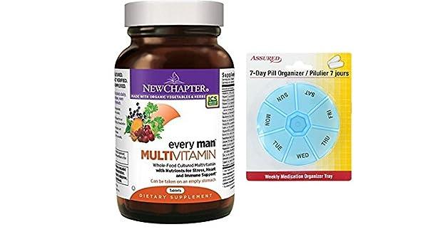 Amazon.com: Nuevo capitulo todos los hombres, los hombres de multivitaminas fermentados con probióticos selenio B vitaminas vitamina D3 ingredientes ...