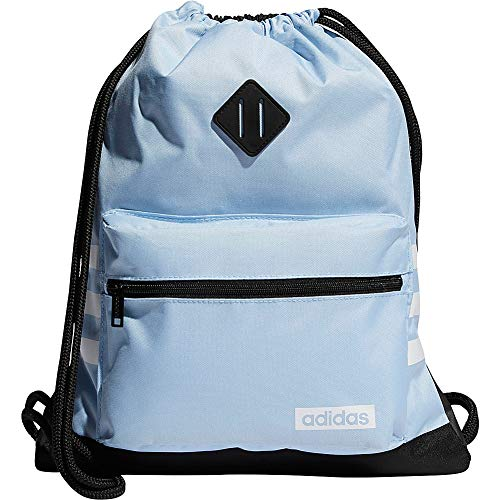 adidas Classic 3s Sackpack, Glow Blue/White/Black, One Size