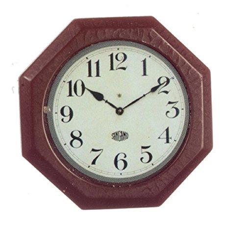 (Dollhouse Miniature 1:12 Scale Octagon Wall Clock #G7082)