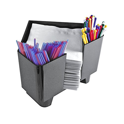 Co-Rect Plastic Bar Caddy with Triangular Design, Black