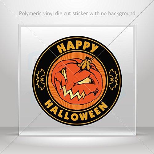 Stickers Decal Happy Halloween Pumpkin Hobbies Motorbike Vehicle Table (8 X 8 Inches)