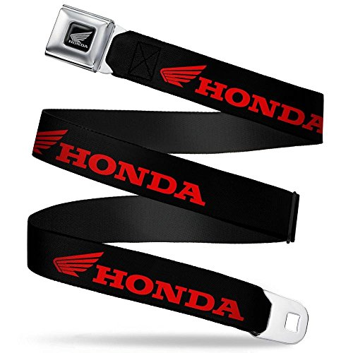 Buckle-Down Seatbelt Belt - HONDA/Wing Logo Black/Red - 1.5
