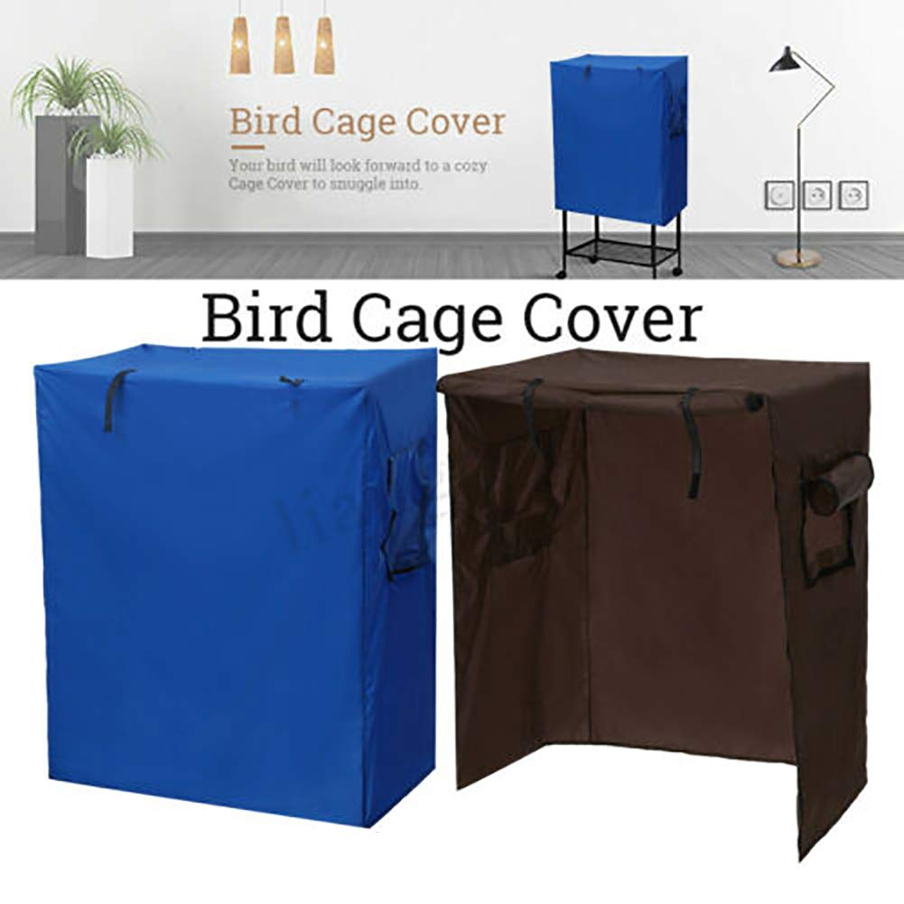 Cover for Bird Cage, Bird Cage Cover, Durable Canvas Waterproof Dust Proof Parrot Canary Shade Cover with 4 Zippers and 2 Roll Up Ventilation Flaps by DYEY