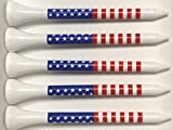 American Flag Golf Tees - Wooden 2-3/4'' - Pack of 50 Tees