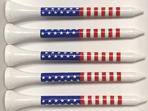 American Flag Golf Tees - Wooden 2-3/4 - Pack of 50 Tees