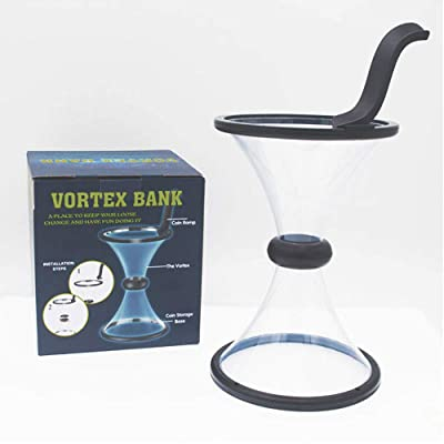 Babook -Vortex Piggy Bank Change Saving Wishing Well Watch Money Defy Gravity   Physics with Coin in Motion: Toys & Games