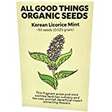 Korean Licorice Mint (Agastache Rugosa) Seeds (~50): Certified Organic, Non-GMO, Heirloom, Open Pollinated Seeds from The United States