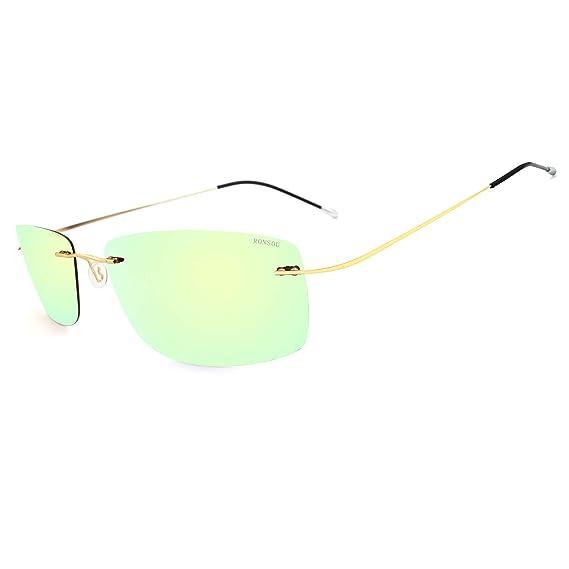 RONSOU Gafas de Sol de Los Hombres Moda Ultraligeras ...
