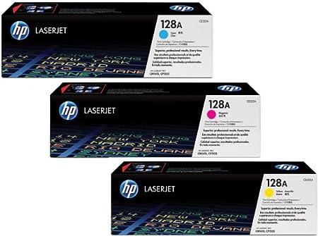 Hp 128a Toner Multipack Cyan Ce321a Magenta Ce323a Und Gelb Ce322a Bürobedarf Schreibwaren