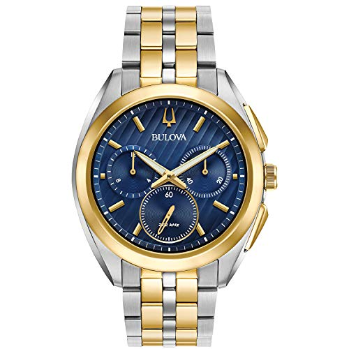 Bulova Men's Curv - 98A159 Stainless Steel/Gold Tone One Size