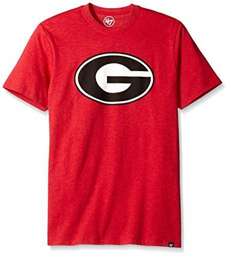 ('47 NCAA Georgia Bulldogs Men's Club Tee, Medium, Red)