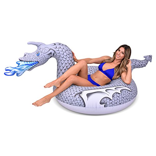 (GoFloats Ice Dragon Party Tube Inflatable Raft, Ride into Summer as King of the North (for Adults and)