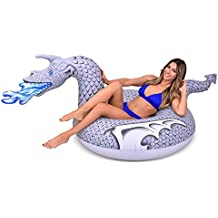GoFloats Ice Dragon Party Tube Inflatable Raft, Freeze Over The Summer Heat (for Adults and Kids)