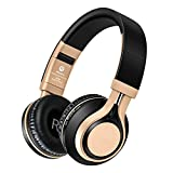 Bluetooth Wireless Headphones 4.0 with Mic Stereo Noise Cancelling Waterproof Foldable Headset BT08(Black)