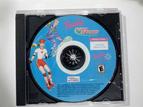 Barbie Super Sports CD-Rom, Snowboard and In-Line Skate with Barbie and friends for extreme racing and sports action