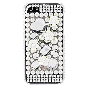 Flower and Pearl Surface Hard Case for iPhone 5/5S