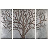 Uttermost 13793 Winter View Rustic Tree Mirror (Set of 3)