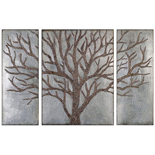 Uttermost 13793 Winter View Rustic Tree Mirror (Set of 3) by Uttermost