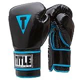 TITLE Element Washable Bag Gloves, Black/Blue, Medium