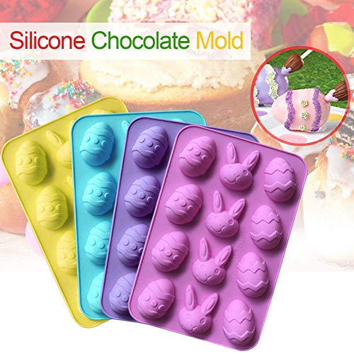 Dumplings Clip Clearance , 12-Cavity DIY Easter Egg Silicone Cake Fondant Mold Chocolate Baking Mould Tools  by Little Story ()