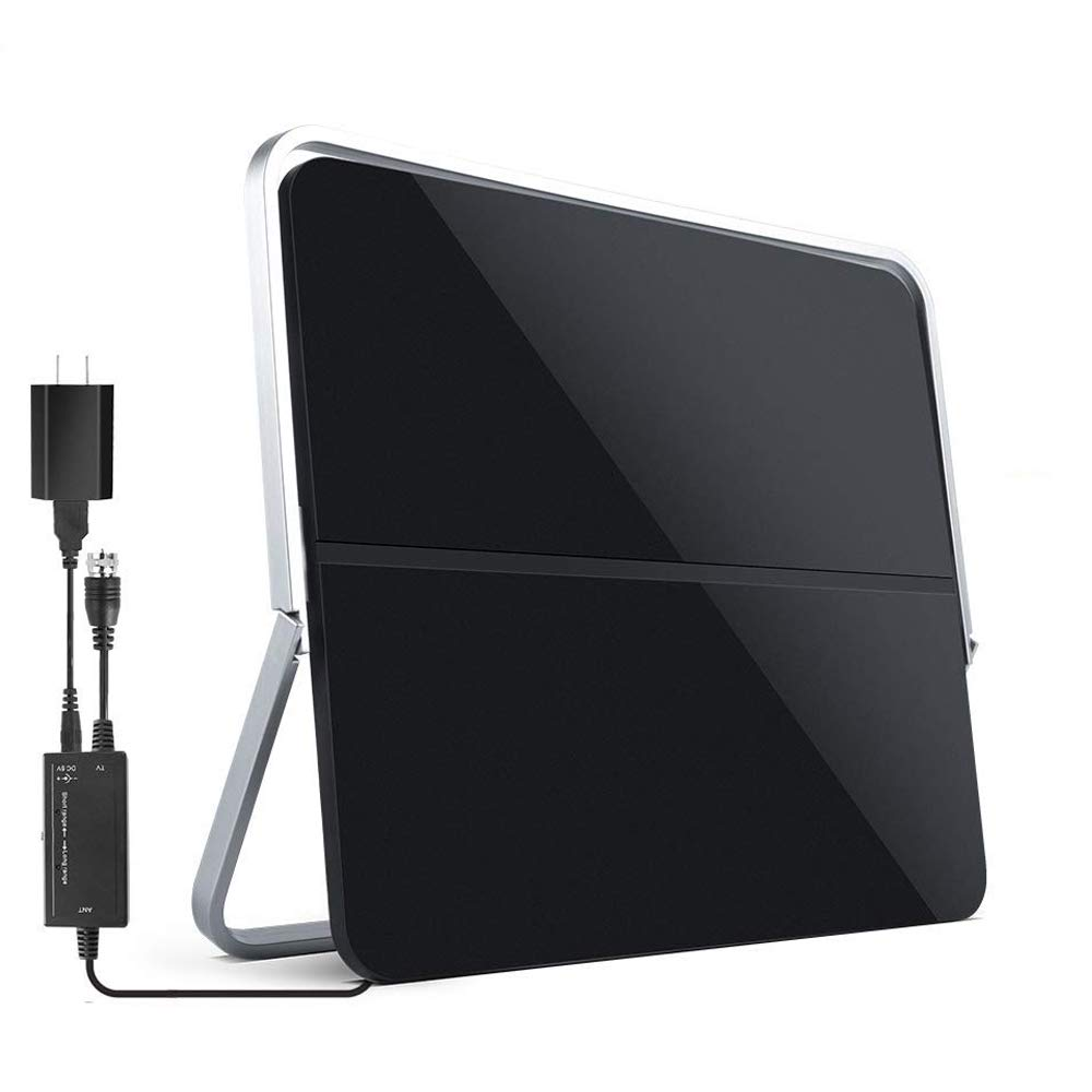 【2019 Newest】 HDTV Antenna Indoor Digital TV Antenna, Veskimer 60-80 Miles Range HD Antenna with Amplifier Signal Booster for 1080P 4K Free Channels Support All TVs - Extremely High Reception by Veskimer