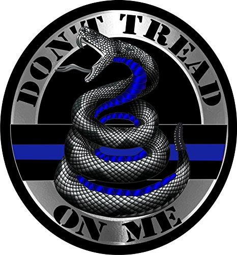 - Thin Blue Line Do Not Tread On Me Reflective Decal-4 in