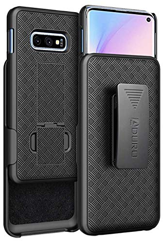 Aduro Galaxy S10e Case with Kickstand Belt Clip Holster, Combo Galaxy Case with Rotating Belt Clip Super Slim Shell Samsung Galaxy Belt Clip Case for Samsung Galaxy S10e (NOT Plus) Cell Phone (2019)