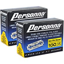 2 Pack Personna Double Edge Stainless Steel Blades 100 Blades