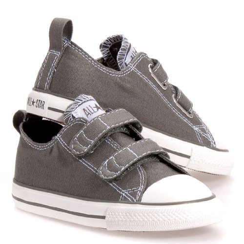 Converse Boy's Chuck Taylor All Star 2V Infant/Toddler - Charcoal - 8 M US Toddler (Converse Ox Grey)
