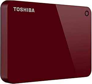 Toshiba (HDTC920XR3AA) Canvio Advance 2TB Portable External Hard Drive USB 3.0, Red