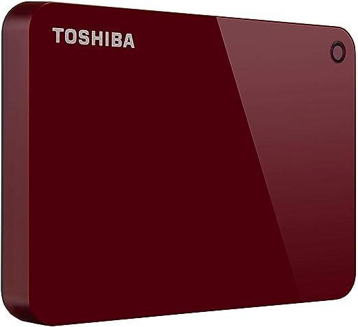 東芝HDTC920XR3AA Canvio Advance 2TBポータブル外付けハードドライブUSB 3.0、赤