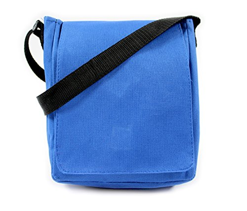 SHOULDER MAN COMPACT HOLIDAY TRAVEL BAG UNISEX BAG WOVEN MESSENGER MUSIC Blue BAG gwEqWfI