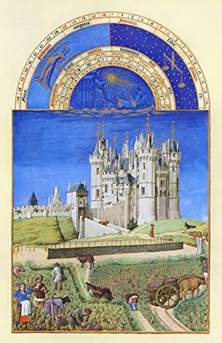 Book Of Hours September Nthe Grape Harvest At The Chateau De Saumur (Loire Valley France) In September Illumination From The 15Th Century Manuscript Of The Tres Riches Heures Of Jean Duke Of Berry Pos