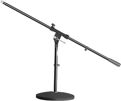 ah Stands S7B - Soporte de micrófono con pie circular y brazo ...