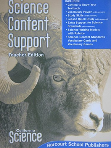 California Science: Content Support, Grade 5, Teacher Edition (Science Support Content)