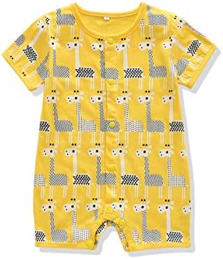 Ferenyi US Baby Boys Clothes Baby's Cute Short Sleeves Cotton Romper