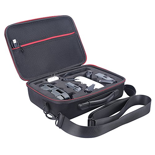 Waterproof Hardshell Handbag Carry Case for DJI Spark Mini Carrying Foldable Drone Body and Remote Controller Transmitter Bag Hardshell Housing Bag Storage Box With Shoulder Strap ()