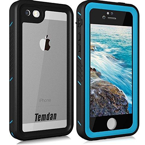 Temdan iPhone SE/5S/5 Waterproof Case with Kickstand Shockproof Waterproof Case for iPhone SE/5S/5