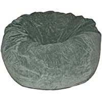 Ahh! Products Dark Olive Microsuede Washable Large Bean Bag Chair Plush