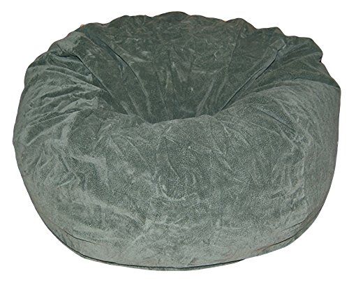 Ahh! Products Dark Olive Microsuede Washable Large Bean Bag Chair Plush ()