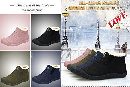 Sneakers Snow Women Non Mens Boots Waterproof Slippers Boots Winter Indoor Warm Pink Shoes BADIER Outdoor Hiking Slip gTZwqxtg