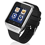 ZGPAX S8 Android 4.4 Dual Core Smart Watch Phone,1.54inch LG Multi-point Touch Screen,3G WCDMA,Bluetooth 4.0,Bulit-in GPS,2M Camera (Silver)