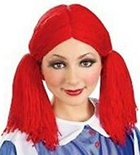 Red Rag Doll Costume (Rag Doll Adult Costume Wig One Size)