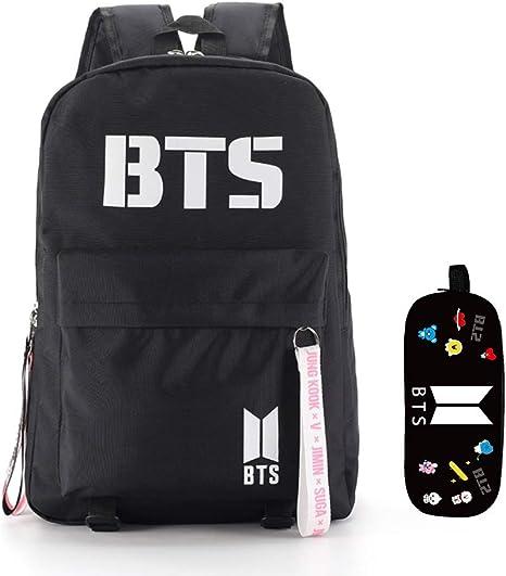 ALTcompluser BTS Mochila con Estuche, Suga V Jin Jimin J-Hope Jungkook RM Mochila Escolar Estuche para BTS Army: Amazon.es: Deportes y aire libre