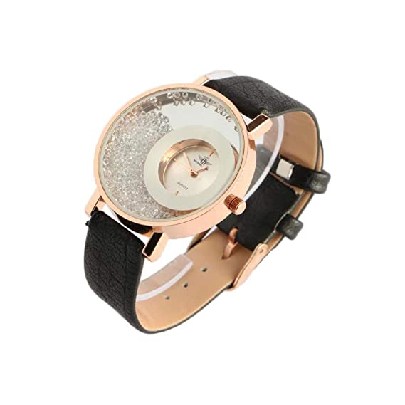 Reloj Mujer Doree y Brillantes Pulsera Negro precya – Mujer